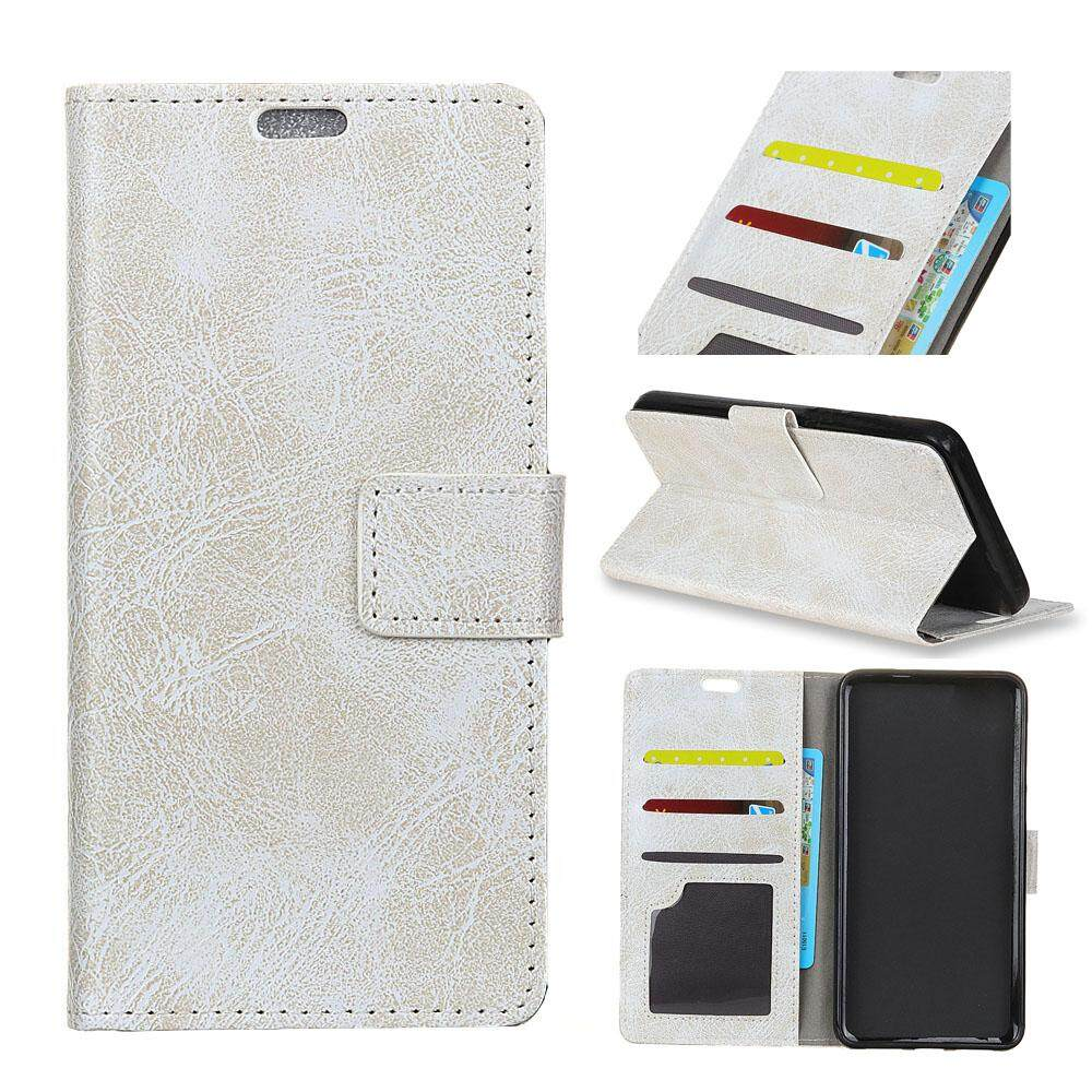 AS Beauty Phone Case for Alcatel Idol 5S Crazy Horse Pattern PU Leather Wallet Case Magnetic Flip Stand Cover with Card Slots Photo Frame - intl