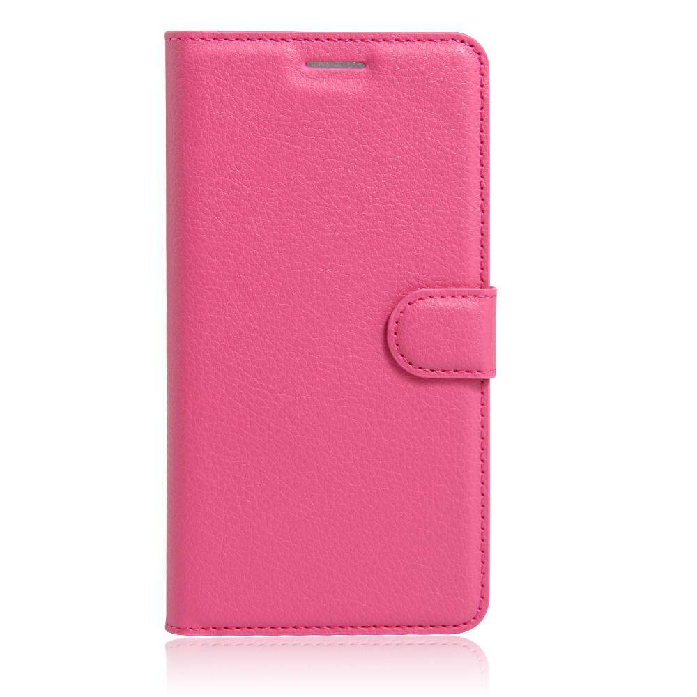 PU Leather Flip Cover Wallet Card Holder Case For Alcatel idol Mini / OT6012 - intl