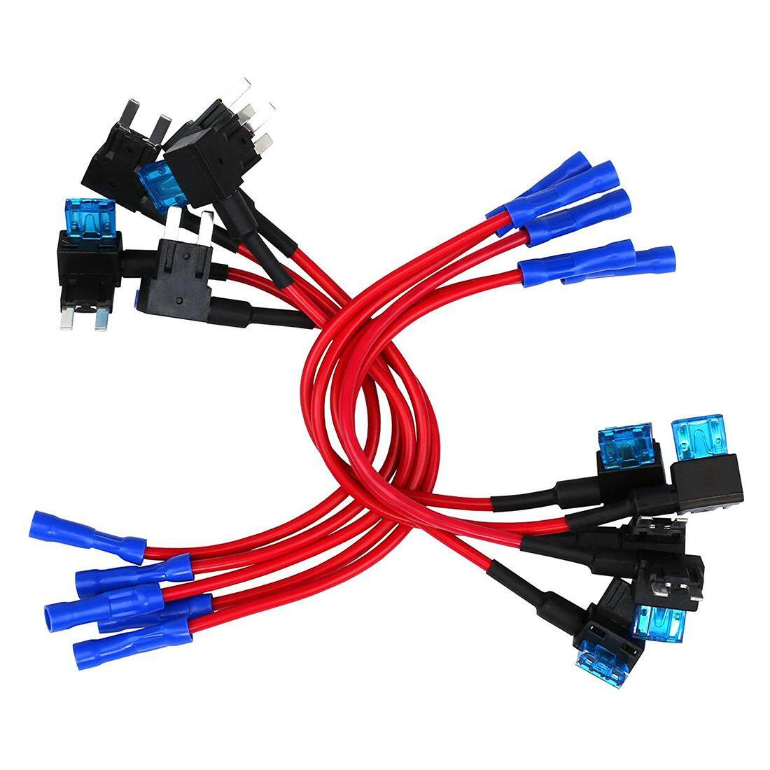 10 Pack - 12v Car Add-A-Circuit Fuse Tap Adapter Mini Atm Apm Blade Fuse Holder - Intl By Sunnny2015