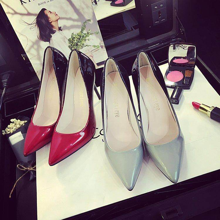 Gaya Korea Baru Hak dengan Model Runcing Hak Tinggi Perempuan Sepatu Pompa Sepatu - 3