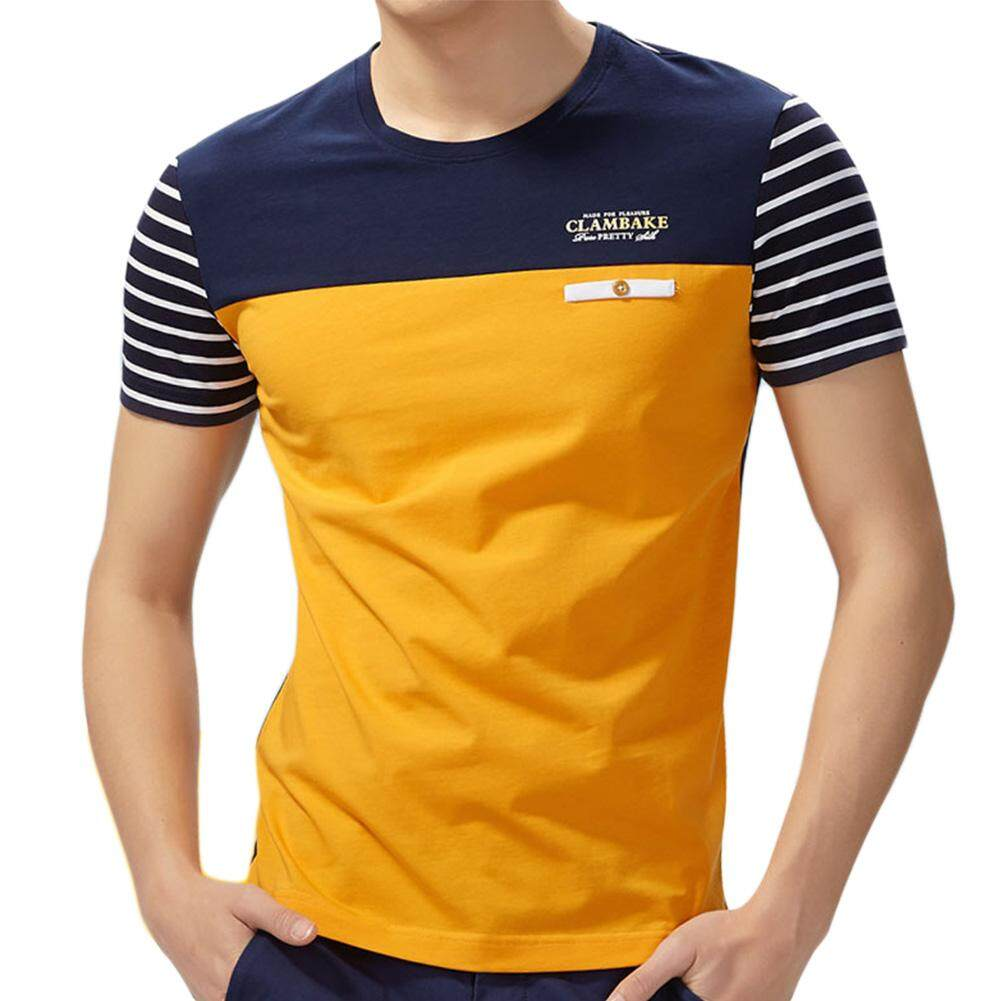 4c4bda079c3672 Kuhong New Summer Men Slim Short-sleeved Round Casual T-shirt - intl