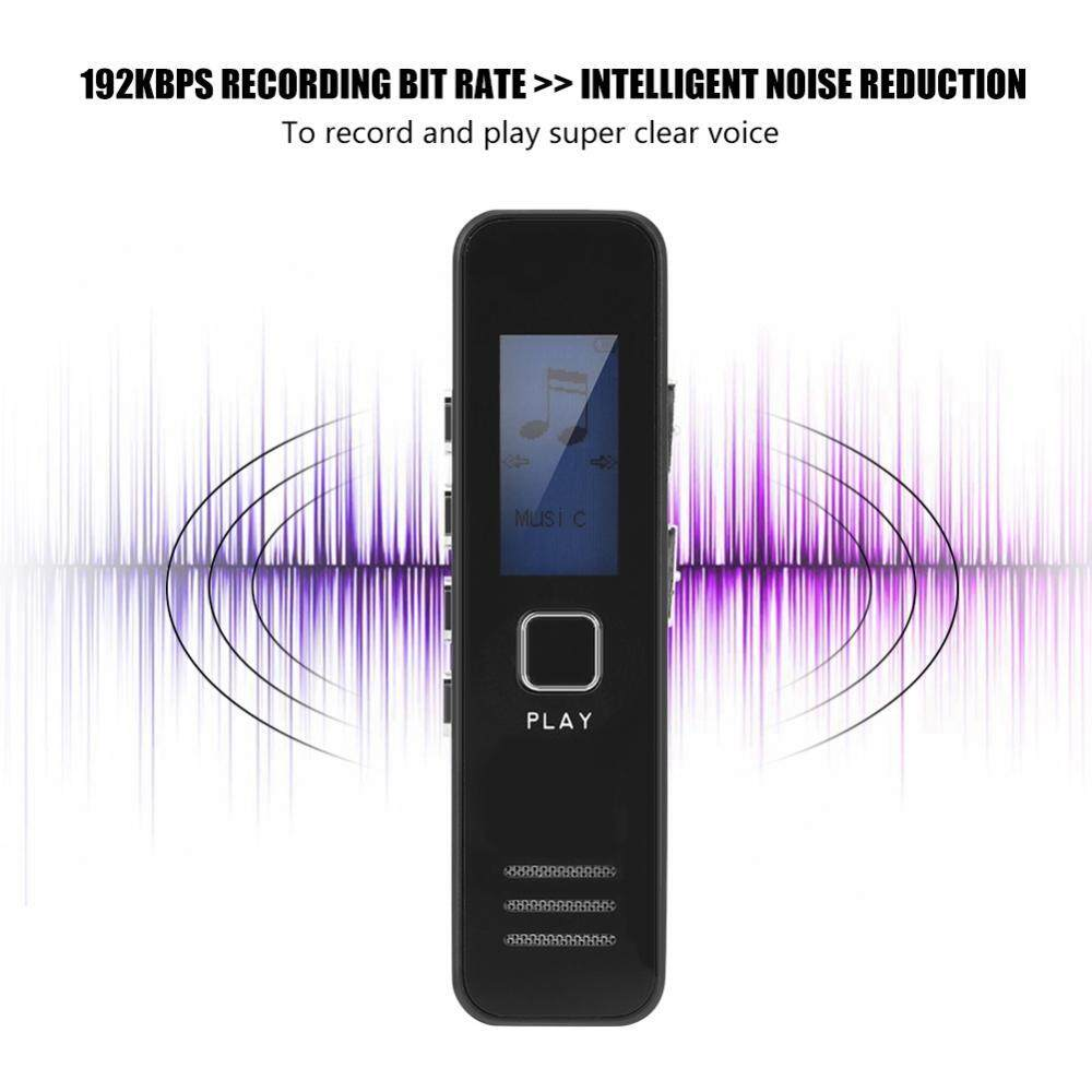 SK-007 Voice Recorder 32GB TF Card Digital Voice Recorder 192kbps 20-hour Recording MP3 Playing Mini Voice Recorder - intl