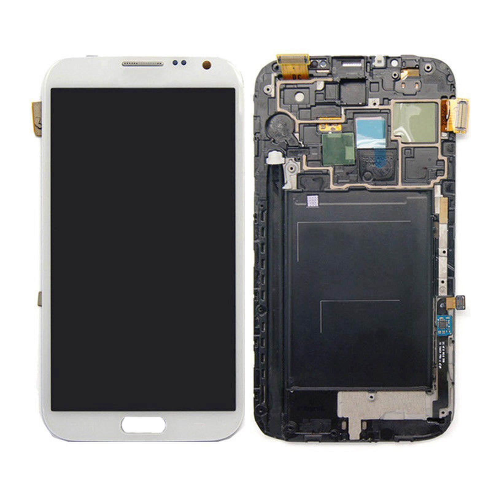 Layar LCD Layar Rakitan Digitizer Sembuh untuk Samsung Galaxy Note 2 II N7100 (dengan Frame)