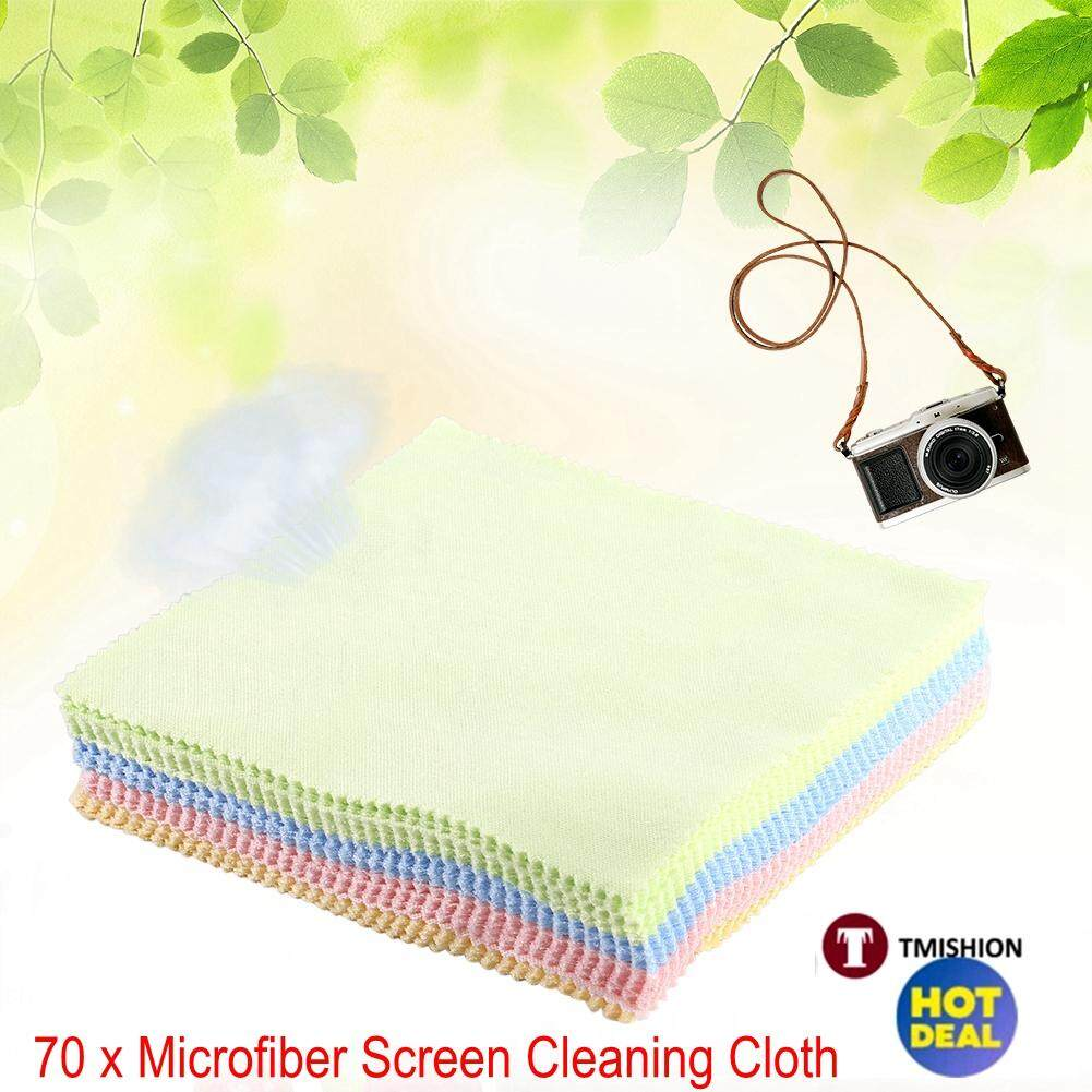 70Pcs Square Microfiber LCD Screen Cleaning Cloth Camera Lens Glasses Dust- cleaner