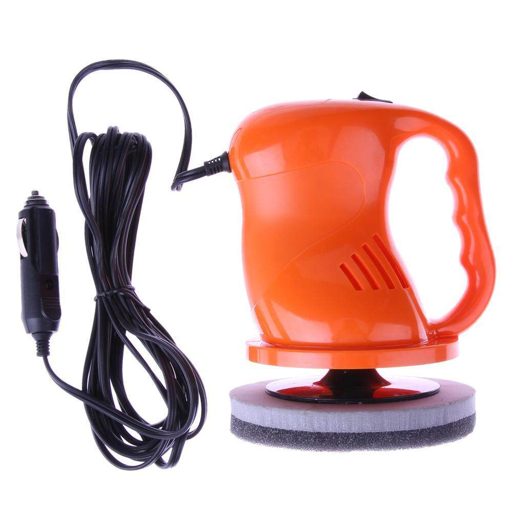 DC 12V Polishing Machine Car Auto Polisher Electric Tool Car Waxing Machine (Orange)