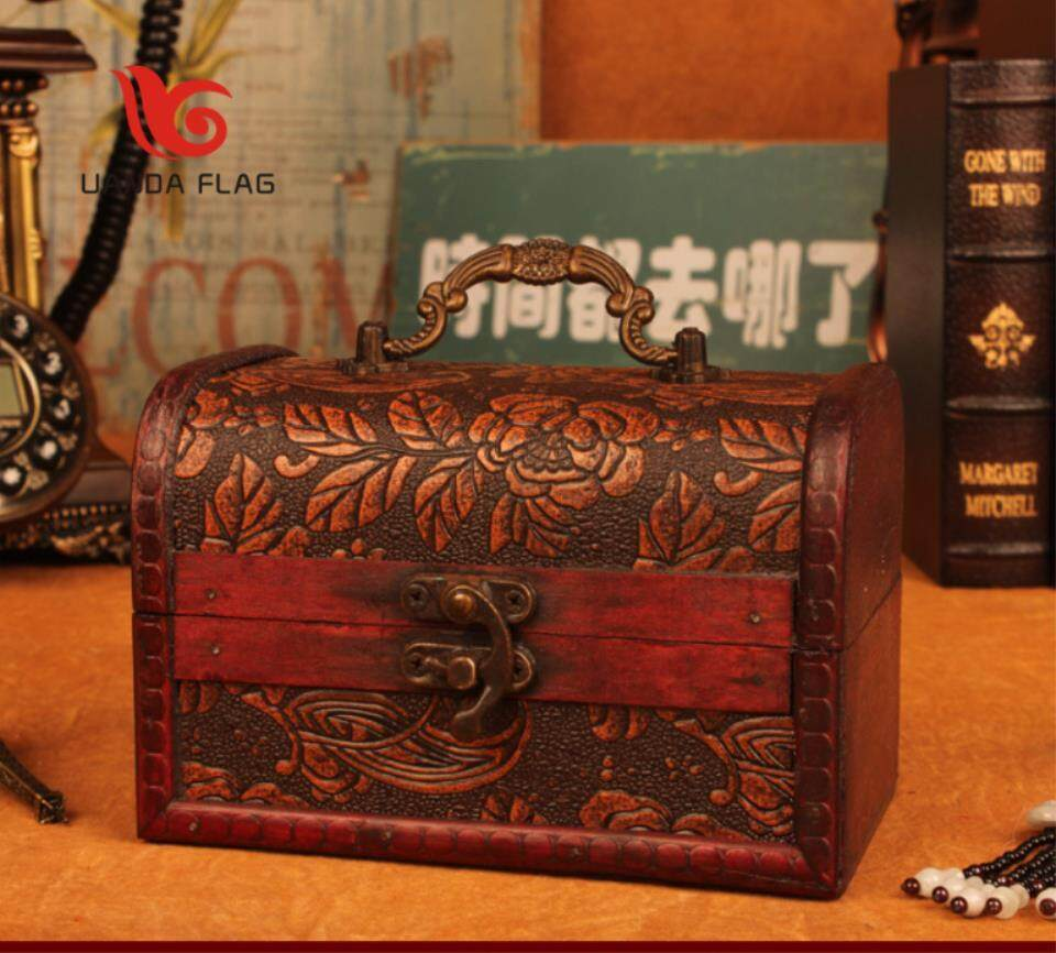 Chinese Wooden Box Antique Wooden Jewelry Box Treasure Box Jade Crystal Jewelry Jewelry Collection Box
