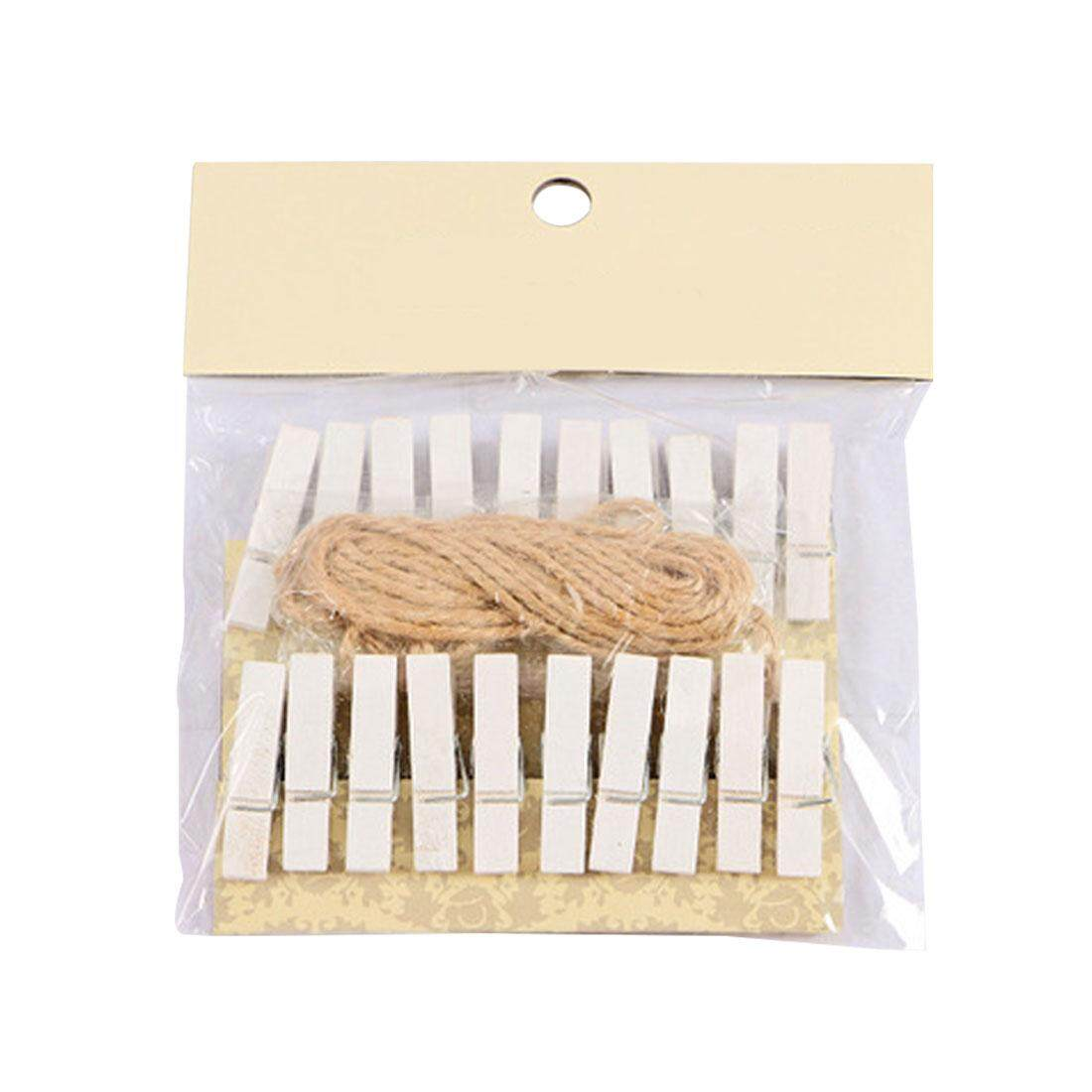 20pcs Mini Wooden Decorative Color Clip Wooden Clothespin Clips Photo Paper Clothes Clips Office Home Supplies