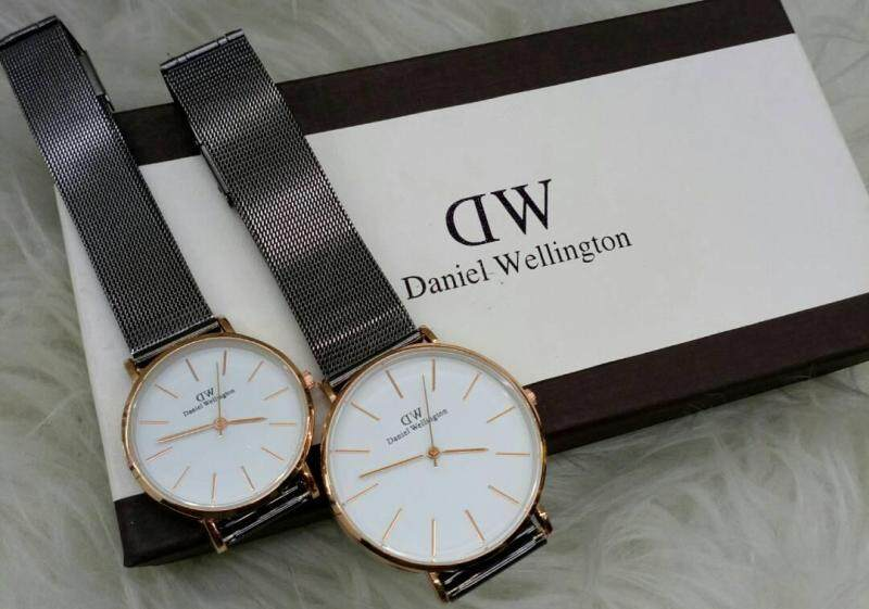 NEW CASUAL DW COUPLE WATCH SET BLACK COLOUR Malaysia