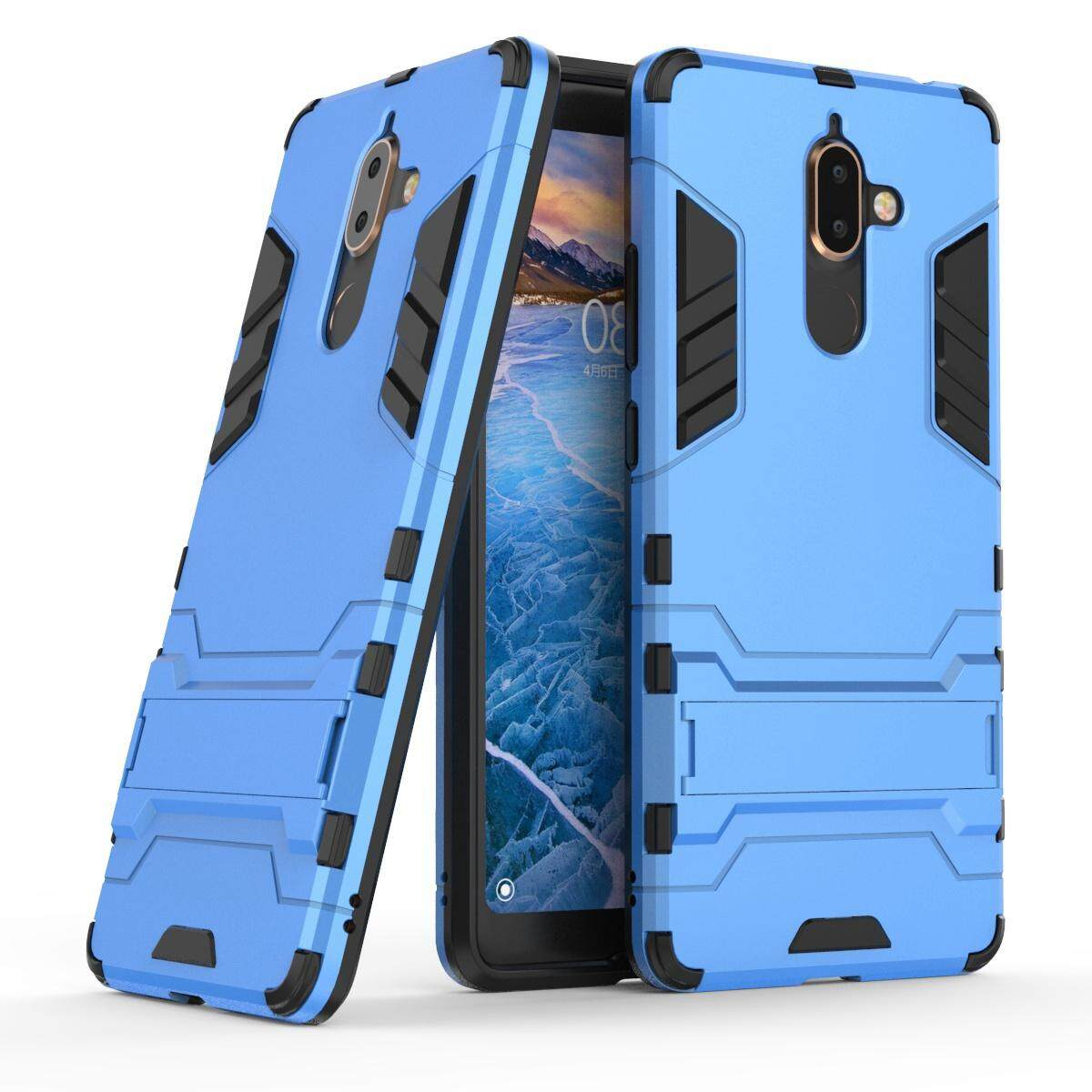 Nokia 7 Plus 2018 Case, Meishengkai 2 in 1 Detachable Dual-Layer Shockproof Armor