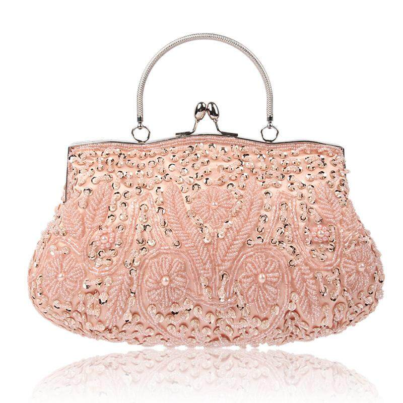 Fashion Handbags Evening Bags Lady Retro Handmade Beaded Embroidered Evening Bag High Grade Wedding Banquet Clutches