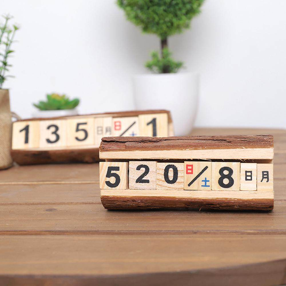 Mua leegoal Creative Manual Wooden Calendar Countdown Calendar Wooden Crafts Shaped Perpetual Table Calendar Numbers And Letters Decorate