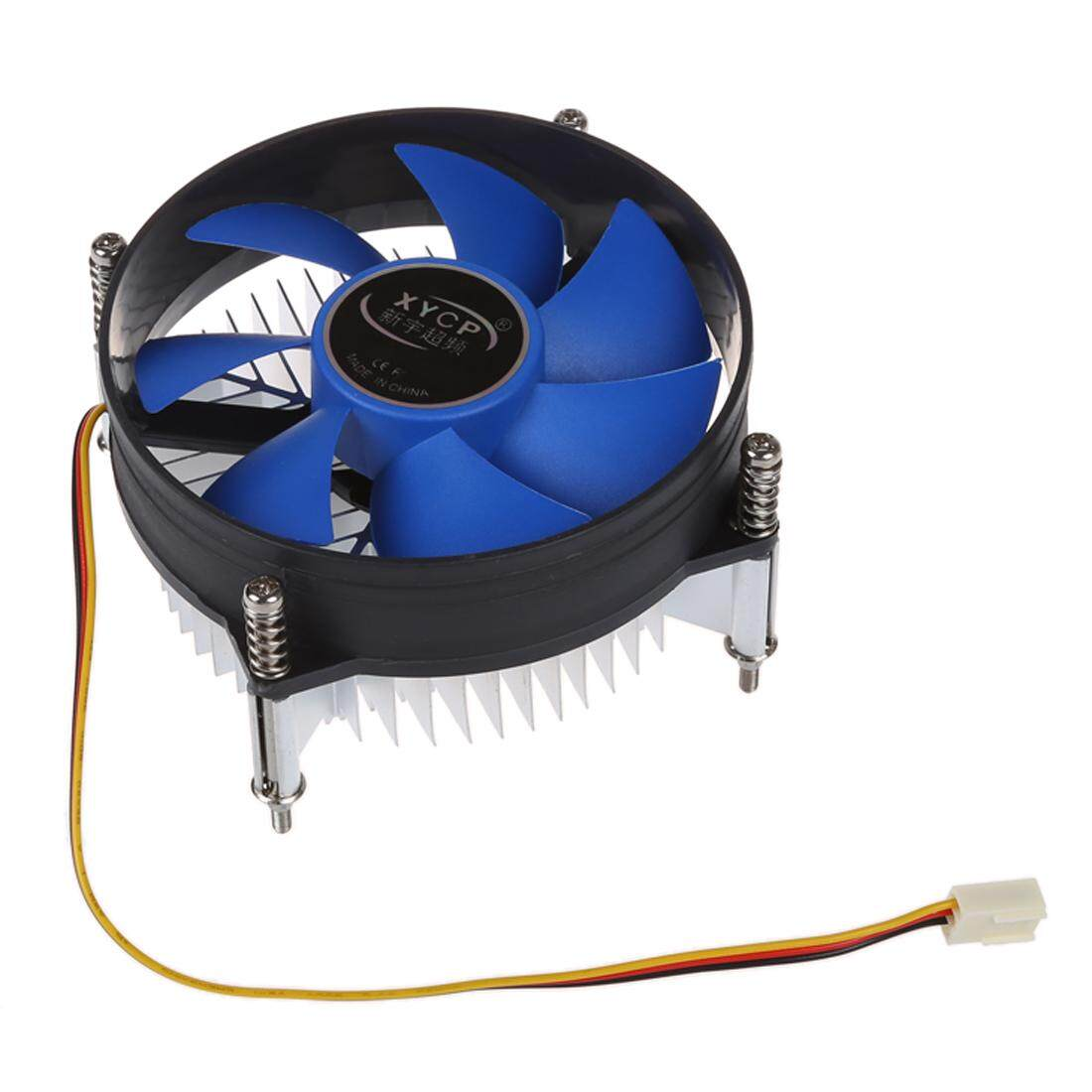 XYCP Processor Cooler CPU Heat Sink for 65W Intel Socket LGA 1155/1156 Core i3 / i5 / i7 Blue