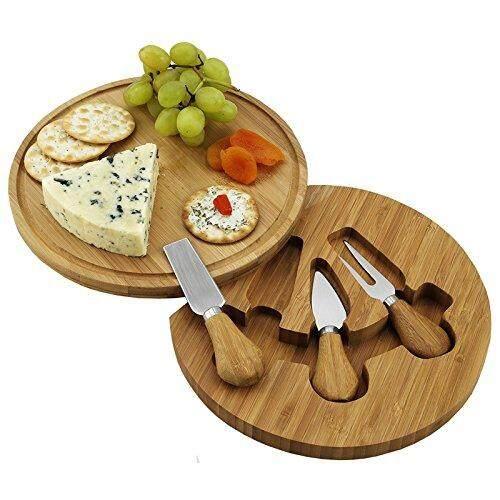Picnic At Ascot Feta Bamboo Cheese Board Set With 3 Tools By Jasmintea.