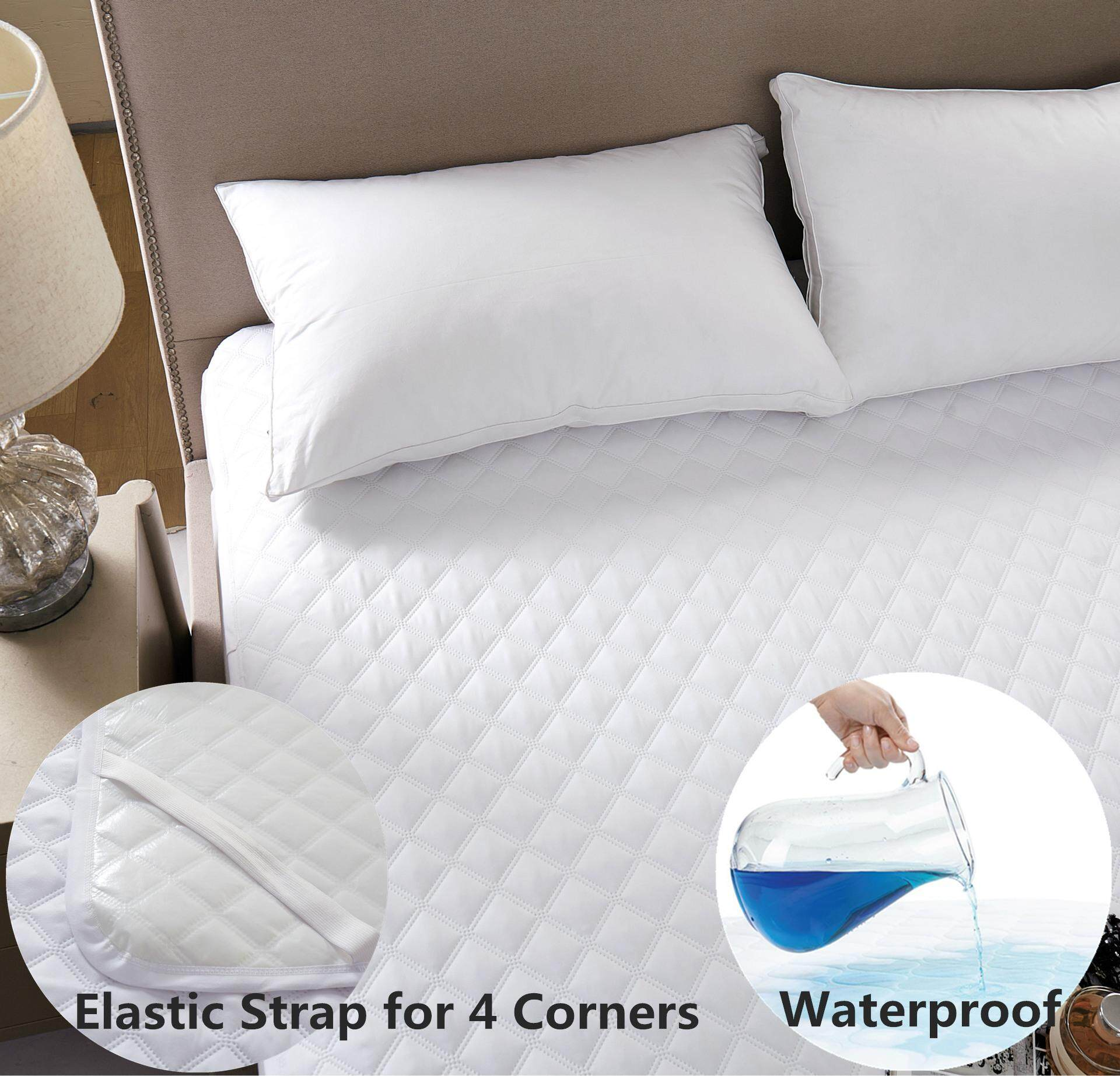 4-Layer Waterproof Mattress Cover, Bed Wetting Sheet Protector, Machine Washable, Adults, Children, Dogs By Fashion District.