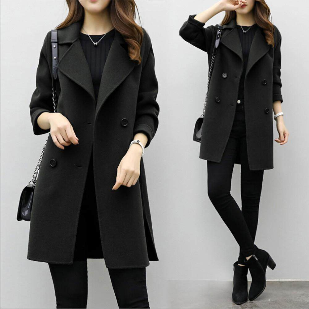 6f73b5c057b Stylish Womens Autumn Winter Jacket Casual Outwear Parka Cardigan Slim Coat  Overcoat