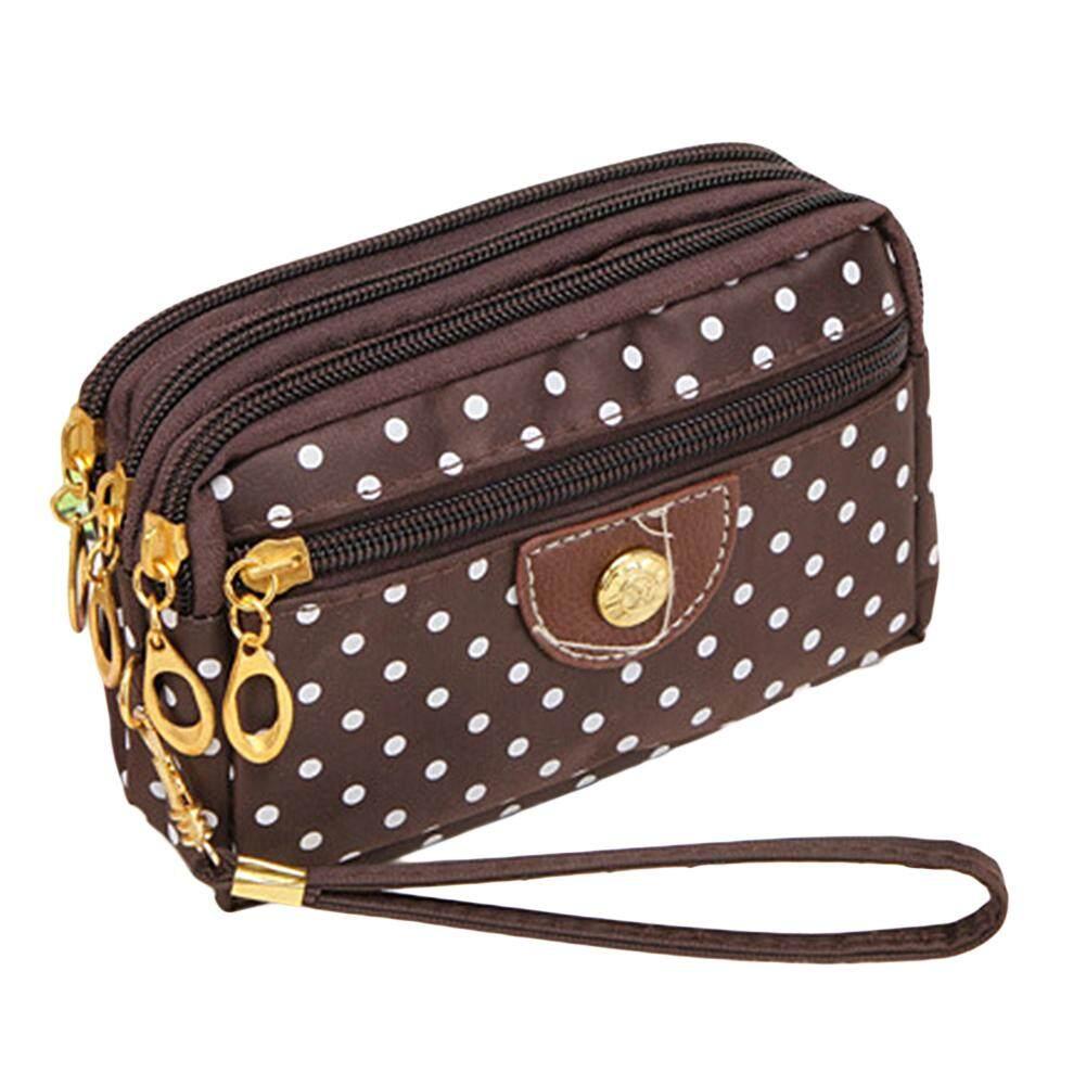 4 ซิปขนาดเล็กกระเป๋าสตางค์ผู้หญิงผ้าสุภาพสตรี, กระเป๋าเหรียญคีย์กระเป๋าถือใส่บัตร By Lolife.