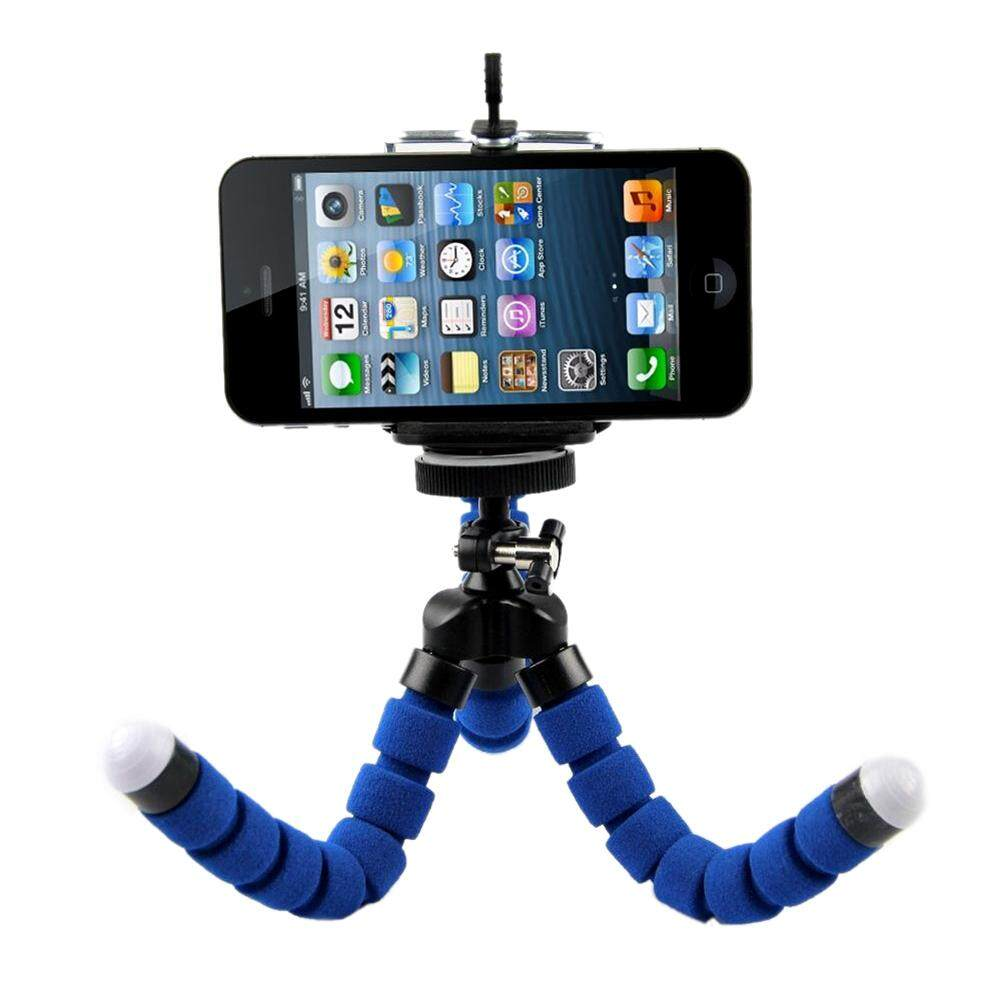 Fitur Universal Flexible Tripod Stand Holder For Smartphone Digital Jumbo Camera Blue 3