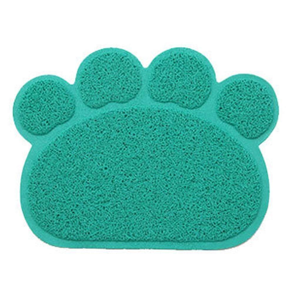 sqamin Dog Paw Shape Feeding Cat Litter Mat Non-slip PVC Pet Dog Dish Water Bowl Easy Clean-Premium and Soft Mats. - intl