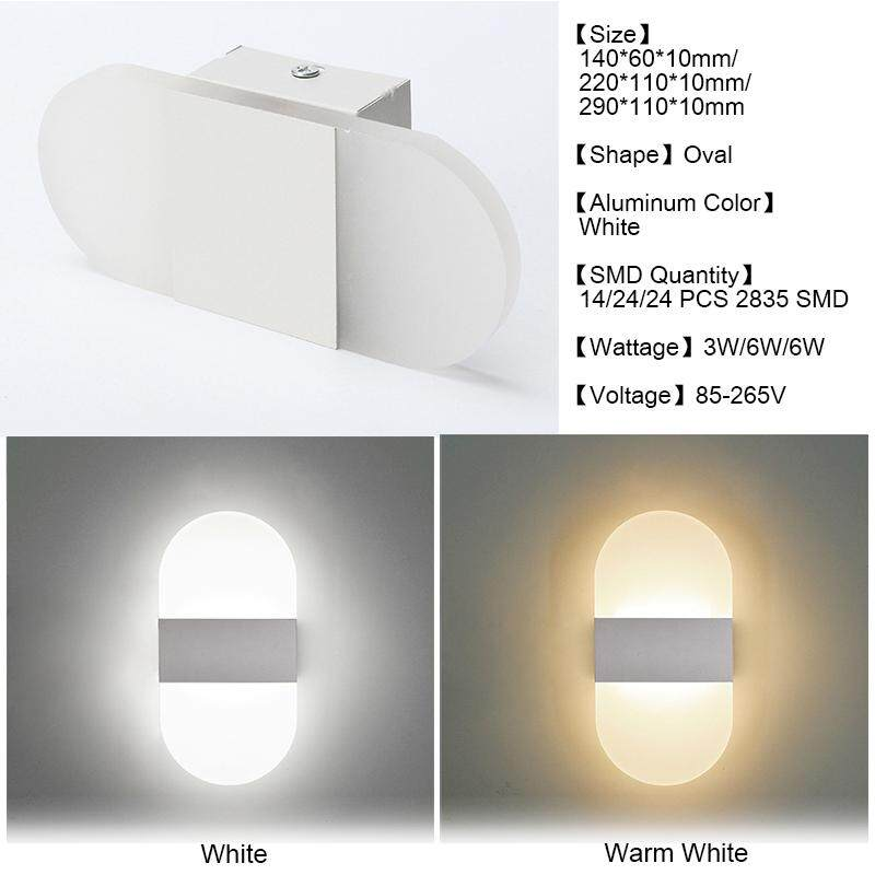 Modern LED Wall Light Up Down Cube Indoor Outdoor Sconce Lighting Lamp Fixture 2835 24LED