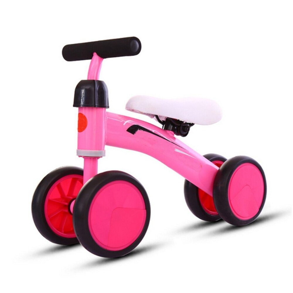 Kids Baby 4 Wheel Balance Bike Push Trainer Toddler Bicycle Walker Ride On Toy By Glimmer.
