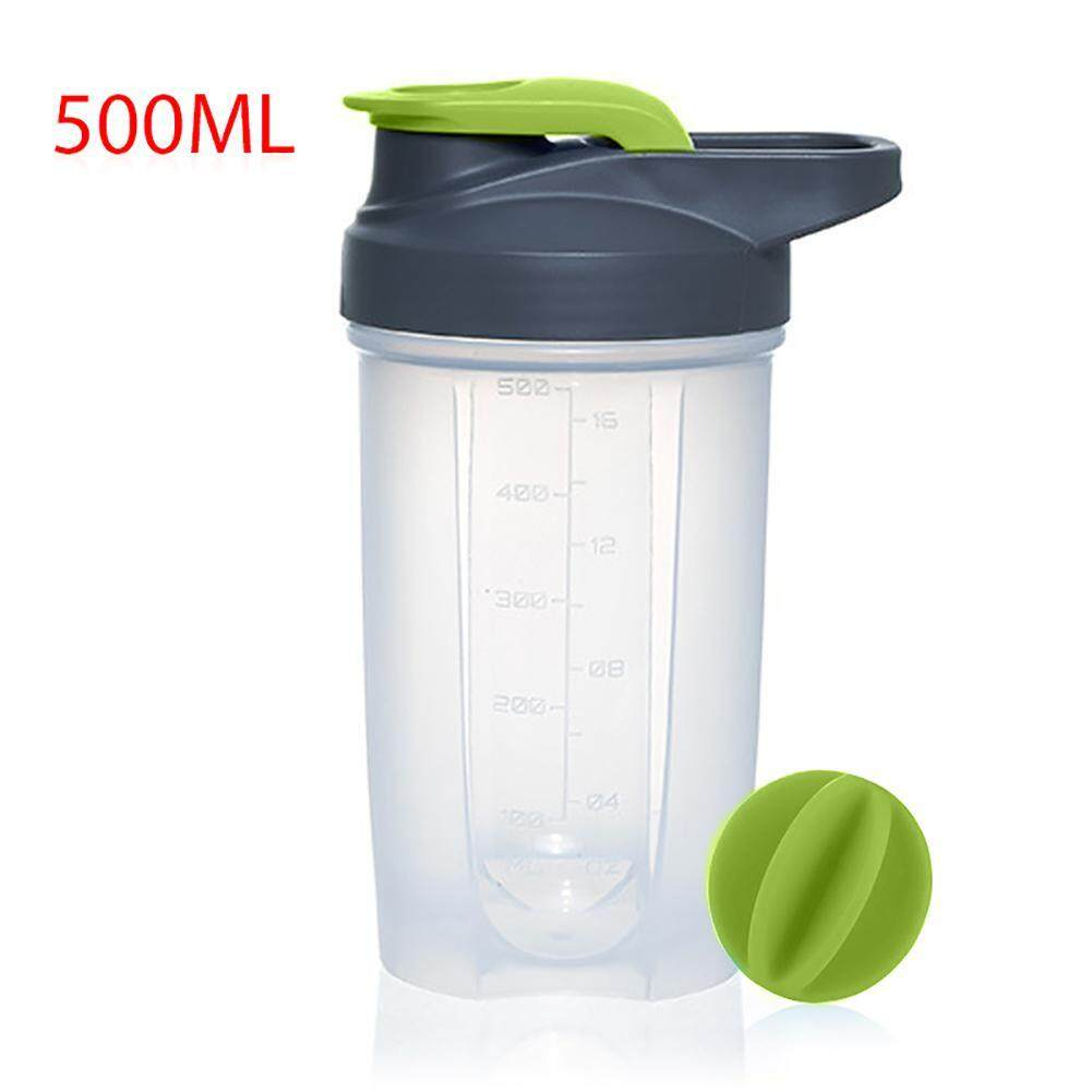Aolvo 500ml New Plastic Sports Bottle Space Cup Fitness Protein Powder Shaker Cup - Intl By Aolvo.