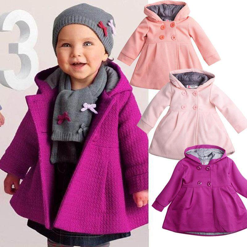 Cute Baby Girl Winter Warm Wool Blend Snowsuit Pea Coat Outerwear Jacket Clothes By Gm Mall.