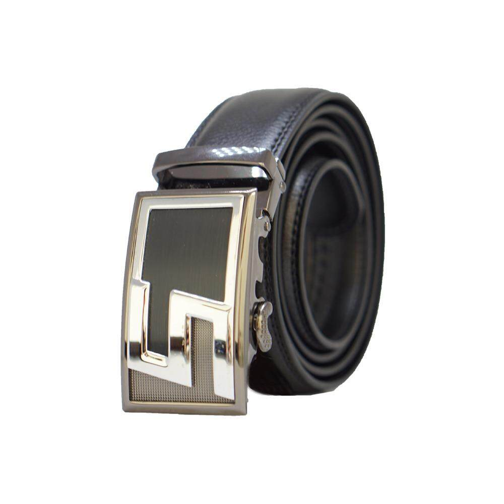 [100% CALF LEATHER] Premium Quality Best Seller MB037 Business Men Leather Belt [BLACK/READY STOCK] - Adjustable Strap for Size S , M , L , XL