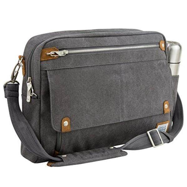 Travelon Anti-Theft Heritage Messenger Briefcase, Pewtership from USA - intl