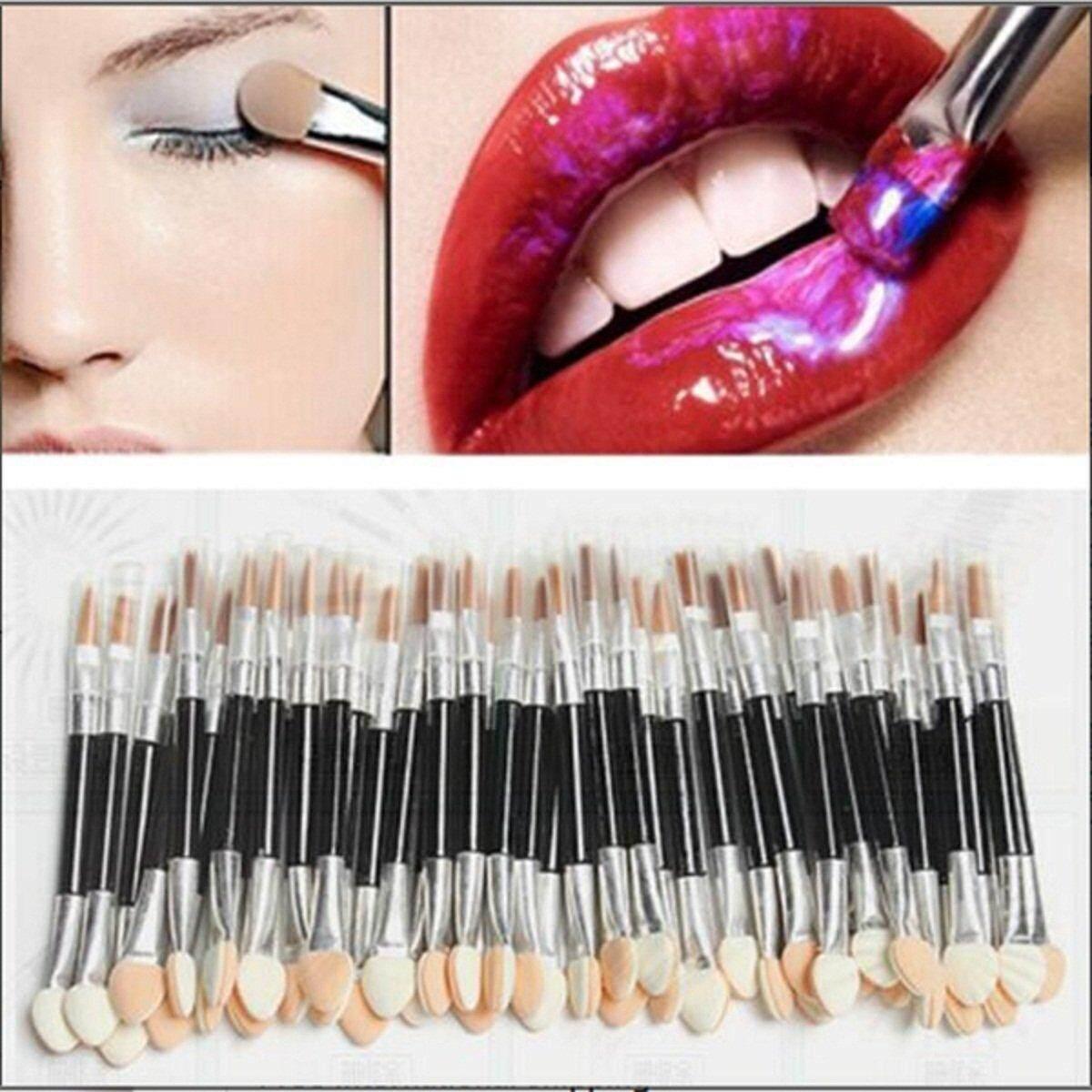 50 Pcs Spons Celak Mata Bibir Sikat Aplikator Ganda Sekali Pakai Makeup Alat Baru-Internasional ...