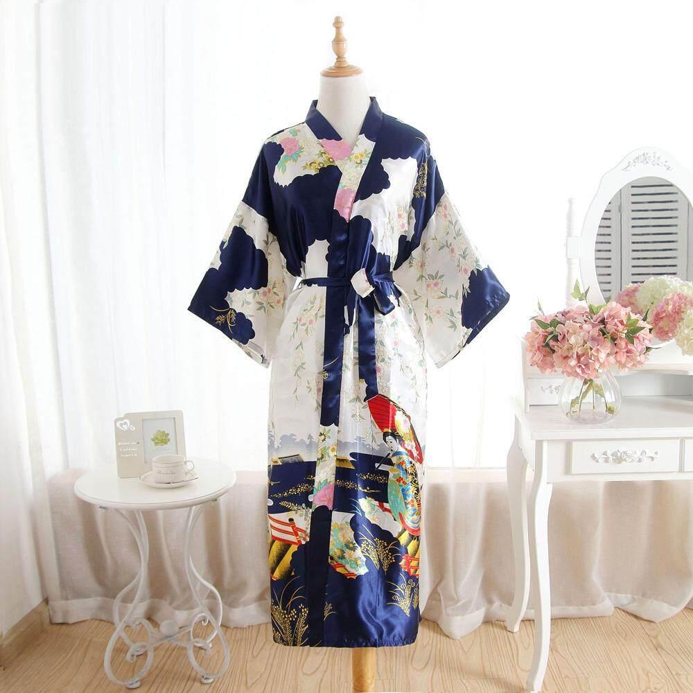 Phụ nữ Đồ Ngủ Dài Satin Áo Choàng Tắm Cô Dâu Cưới Cô Dâu Phù Dâu Kimono Áo Choàng Áo Choàng