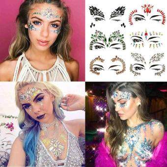 ...  1PC 3D Face Tattoo Crystal Sticker Make Up Adhesive Face Jewels Gems  Temporary Tattoo Face Jewels Festival Party Body Gems Rhinestone Flash  Tattoos ... e240365ab7f9