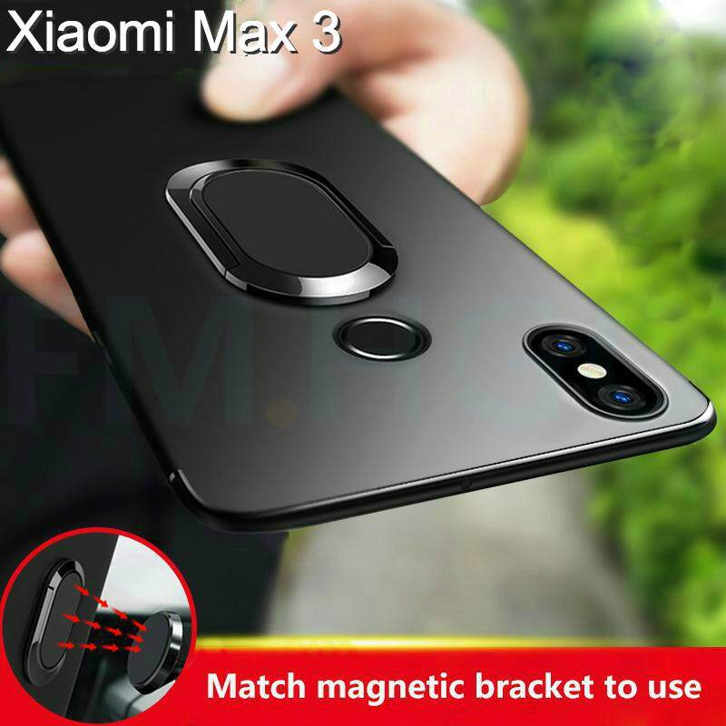 Ring Holder Case for Xiaomi Max 3 Luxury Ultra Thin Car Magnetic Holder Silicone Cover for