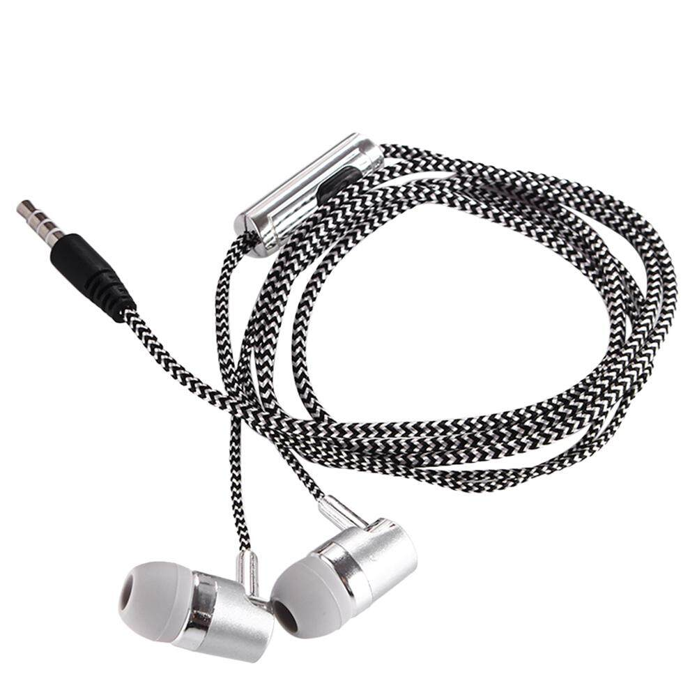 3.5mm Wired Headphone In-Ear Headset Stereo Music Smart Phone Earphone Earpiece In-