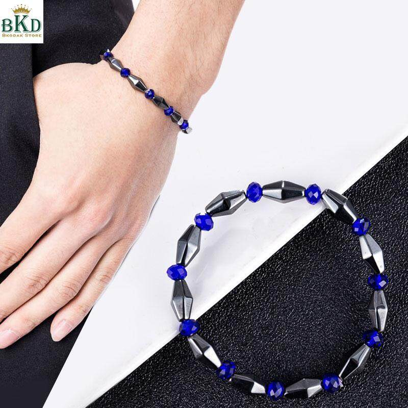 Bokeda Store Black Slimming Bracelet Magnetic Beaded Bracelet By Bokeda Store.