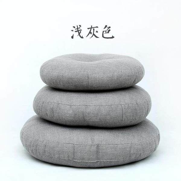 Fabric throw pillow Thickening Flax Futon throw pillow Japanese Style Circle Bay Window Deck Meditation Tatami Mat