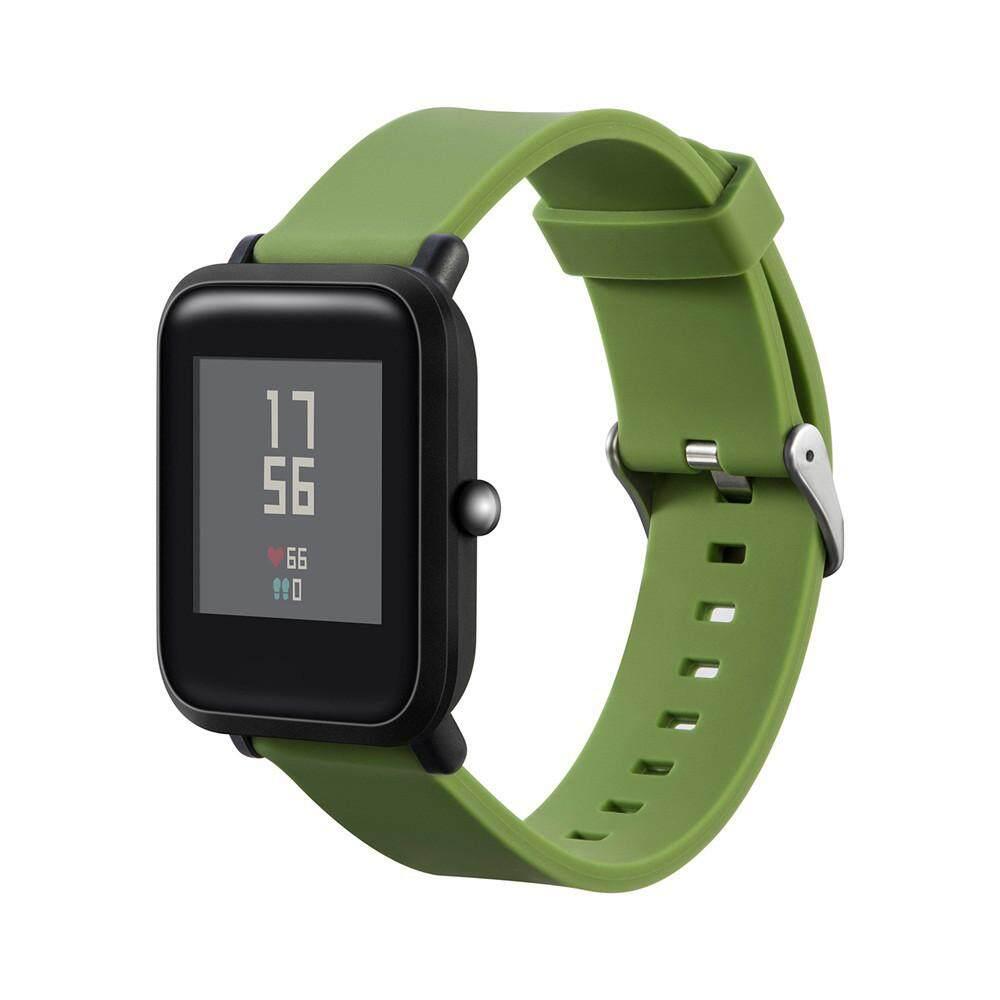 Honioer Baru Olahraga Gelang Silikon Lembut Tali Band untuk Huami Amazfit Smartwatch Pemuda