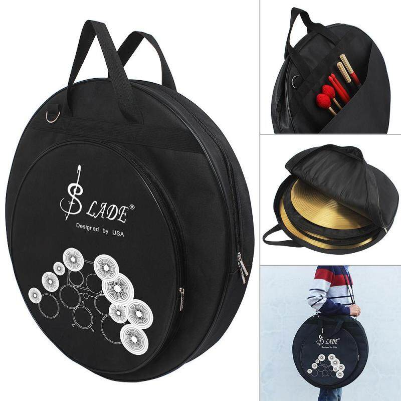 Three Pockets Cymbal DrumSticks Storage Bag Protable Gig Shoulder Bag for 8~20 Inch Cymbal and Drum Sticks