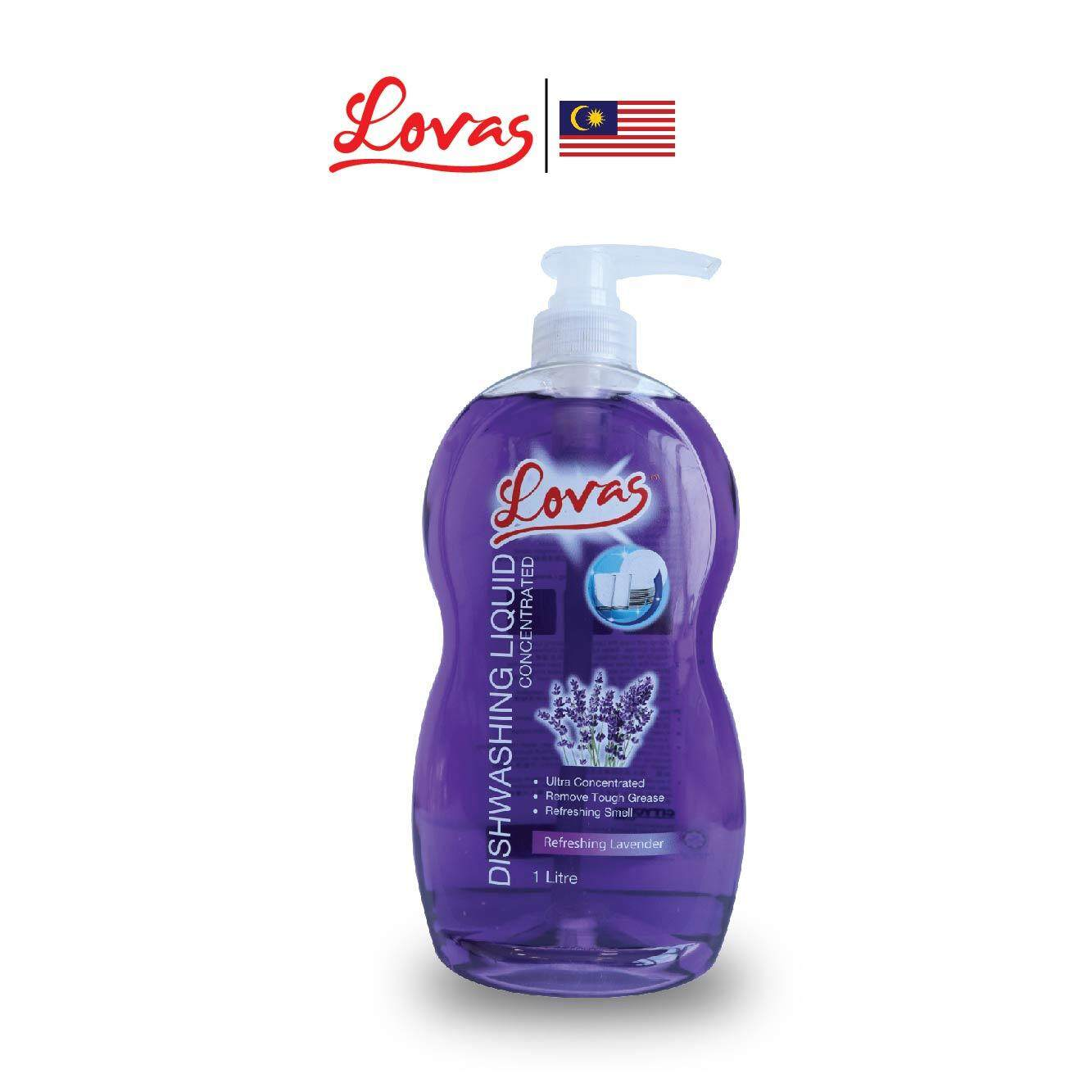 LOVAS Dishwashing Liquid Concentrated - 1L [Lavender] Oil & Grease Remover