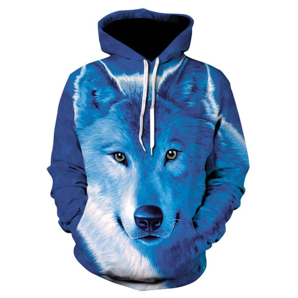 Yanyi Unisex 3d Print Wolf Hoodie Cool Casual Long Sleeve Hooded Pullover Sweatshirt Top By Sa Yanyi.
