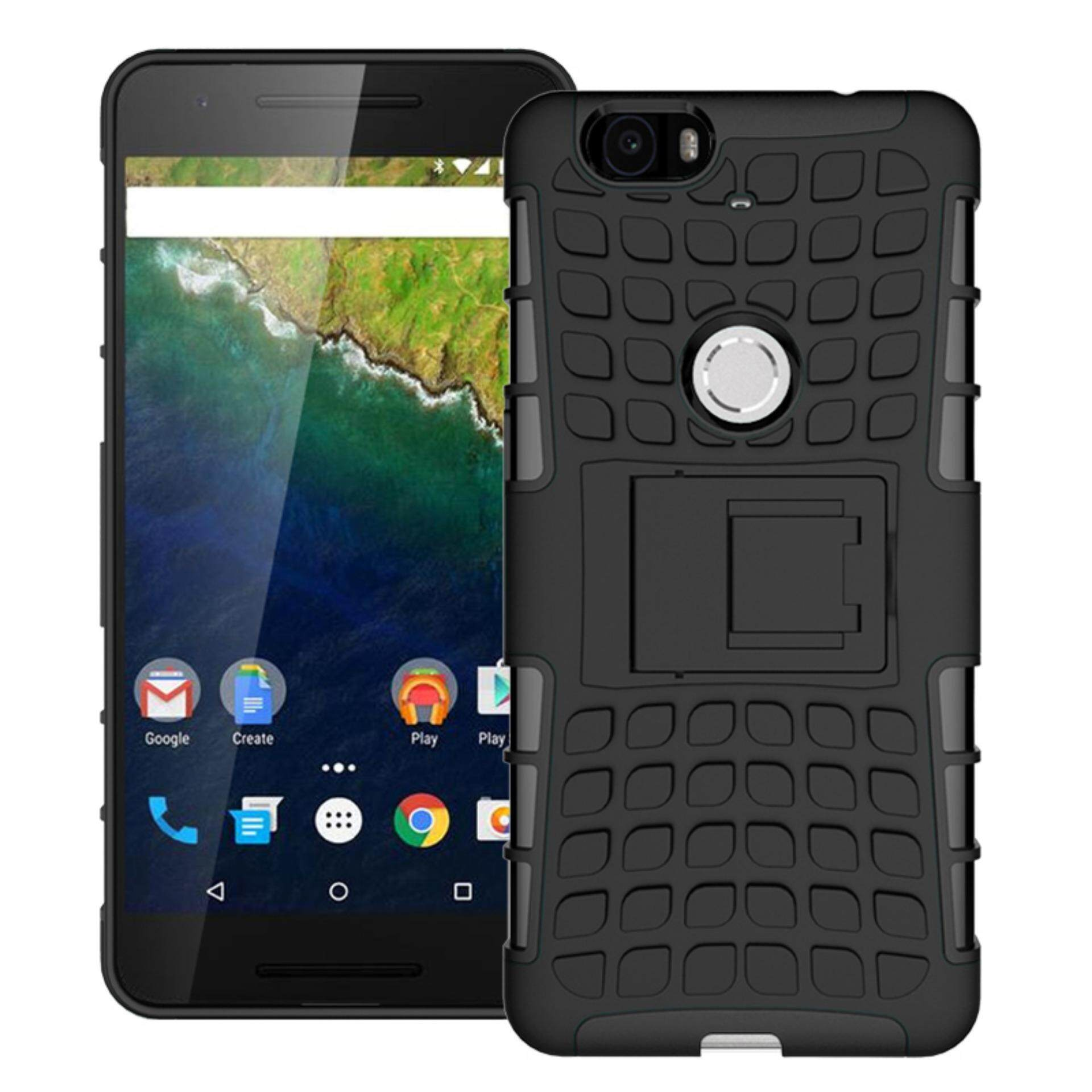 Nexus 6p Croco Shockproof Hard Rubber Phone Case with Stand