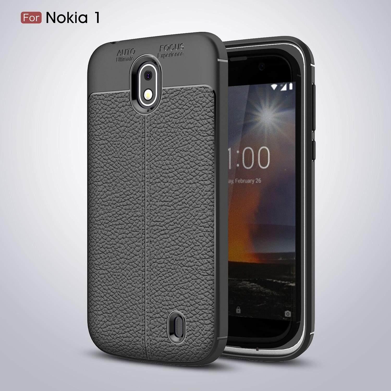 Soft Casing For Nokia 1 Nokia1 TPU Case Litchi Pattern Cover