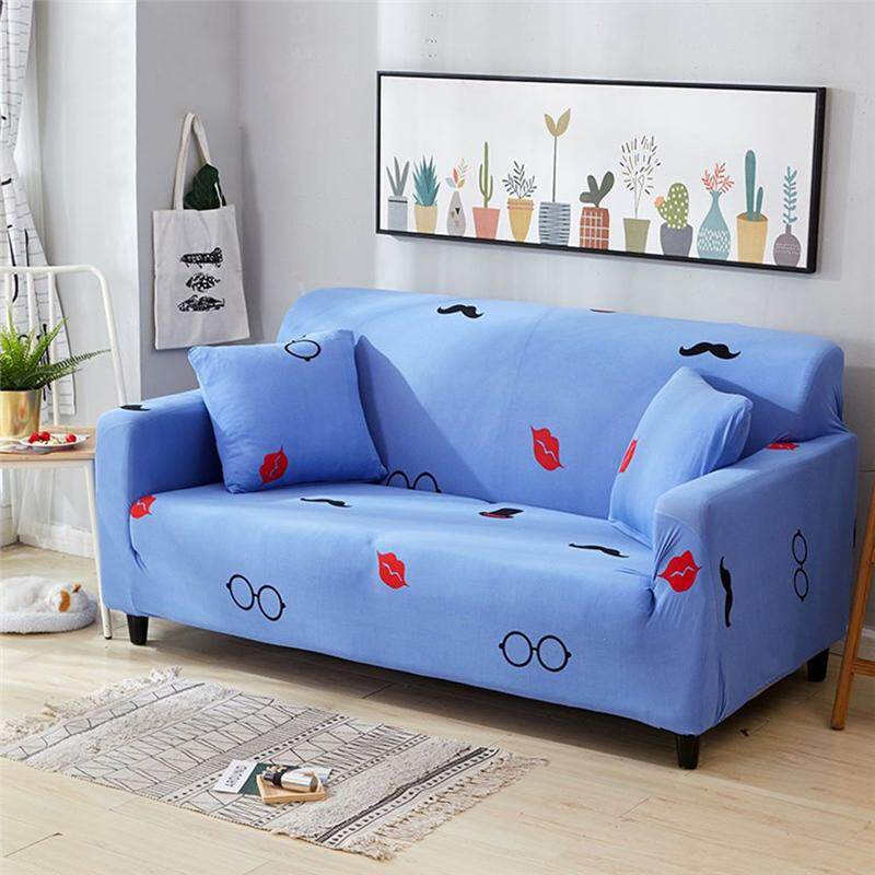 Easybuy (2/3 Seater) Printed Stretch Elastic Sofa Cover Slipcovers Couch Furniture Protector
