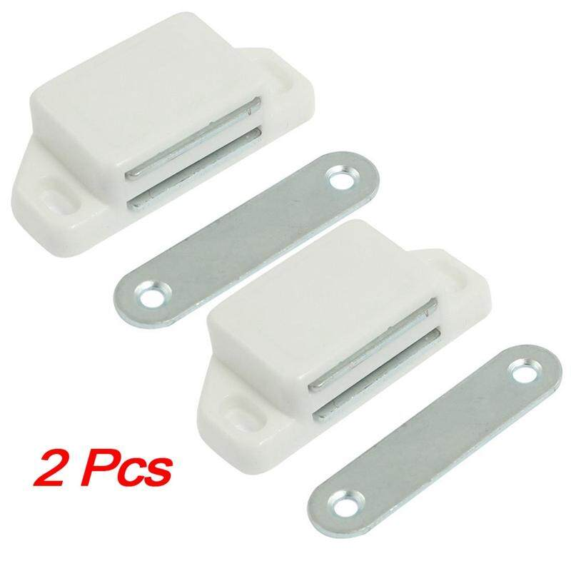 SODIAL(R) 2 Pcs Cabinet Cupboard Door Magnetic White Latch Catch