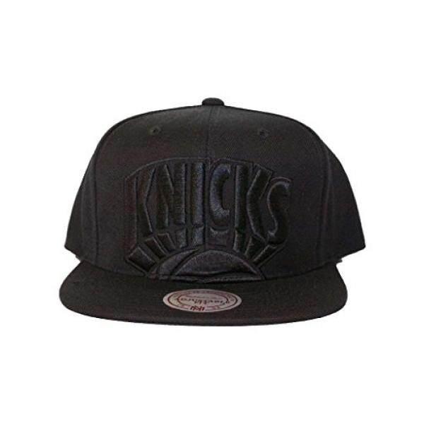 a934c16a ireland mitchell ness new york knicks black tonal cropped xl logo snapback  hat nba flat 7328a