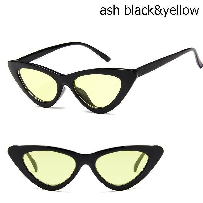 Mata Kucing Kacamata Hitam Vintage Wanita Merek Desain Wanita Panas Sunny Kacamata Hitam Wanita UV400 Kacamata (Warna Acak 1 Pcs) -Intl