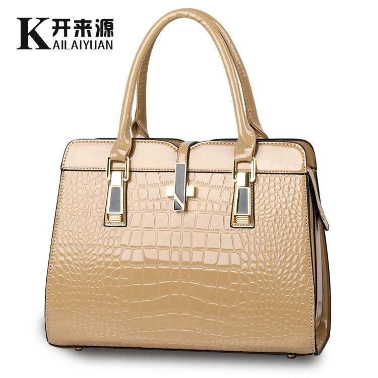 Ubest New Bright Patent Leather Crocodile Fashion Shoulder Handbag