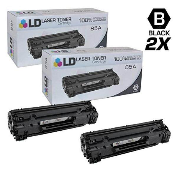 Laser Printer Drums & Toner LD Compatible Replacements for Hewlett Packard CE285A (HP 85A) Set of 2 Black Laser Toner Cartridges for use in HP LaserJet Pro M1132, M1212nf, M1217nfw MFP, P1102, and P1102W Printers - intl