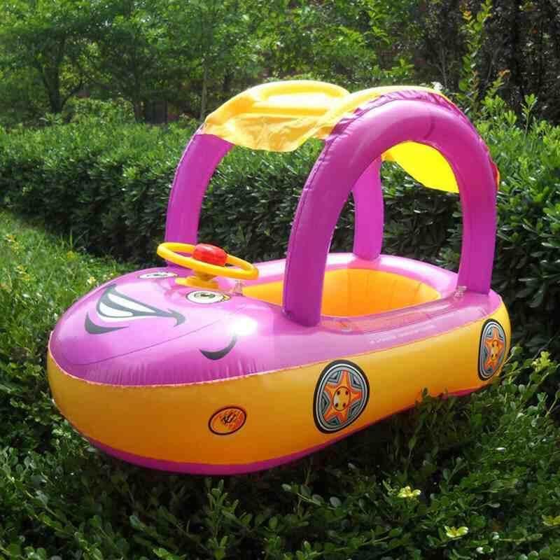 Jnan Portable Pelampung Bayi Tiup Kursi Perahu Bentuk Mobil Kerai Renang Air Kolam Renang Mainan Air