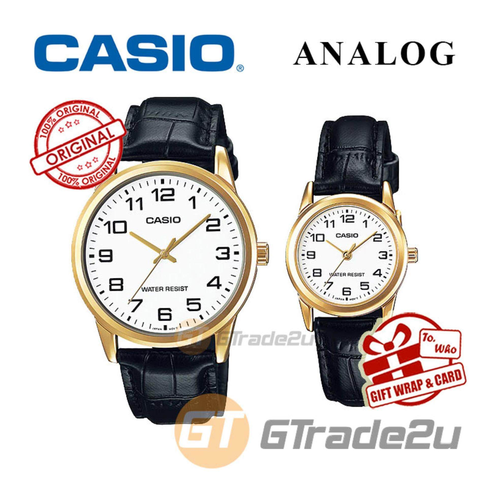 Casio Couple Watch Jam Tangan Pasangan Silver Gold Strap Stainless 1233d 7a Steel V006sg