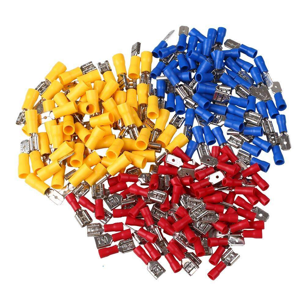 100 Pair Male & Female Electrical Crimp Connectors Terminals Assortment Kit Set By Zada Mall.